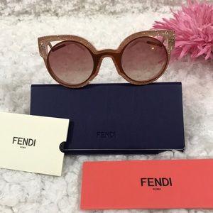 cb1e0209692 Fendi Accessories - Fendi FF 0137 S NUG 4C Orange Pink Glitters Round
